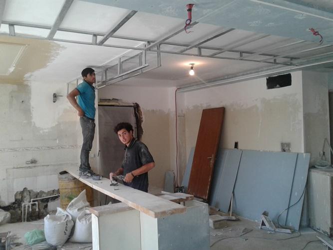 دکور ستون با کناف اجرای کناف سقف | دکور کناف | کناف در دکوراسیون 09125754921