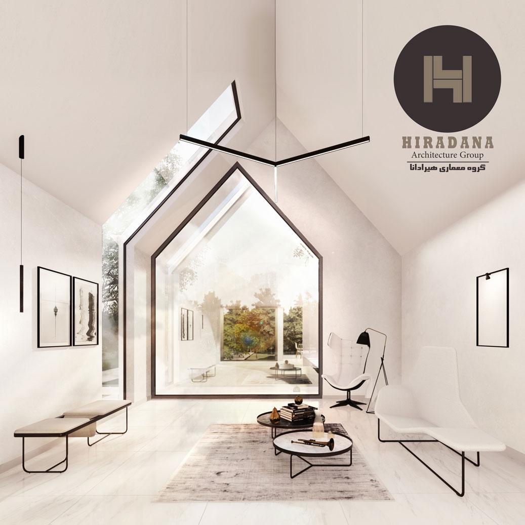 طراحی داخلی ویلا شش پر
