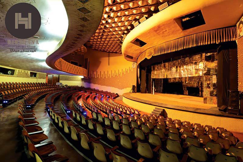 طراحی داخلی تئاتر شهر