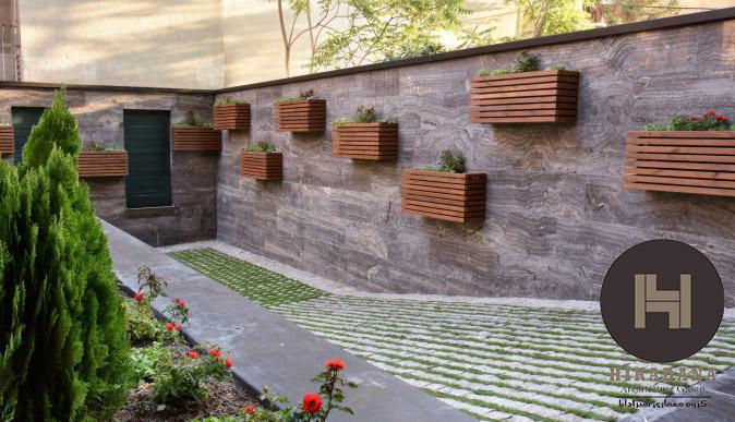 پوشش گیاهی ساختمان ارسی