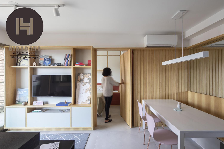 بازسازی ساختمان با چوب و رنگ خاکستری