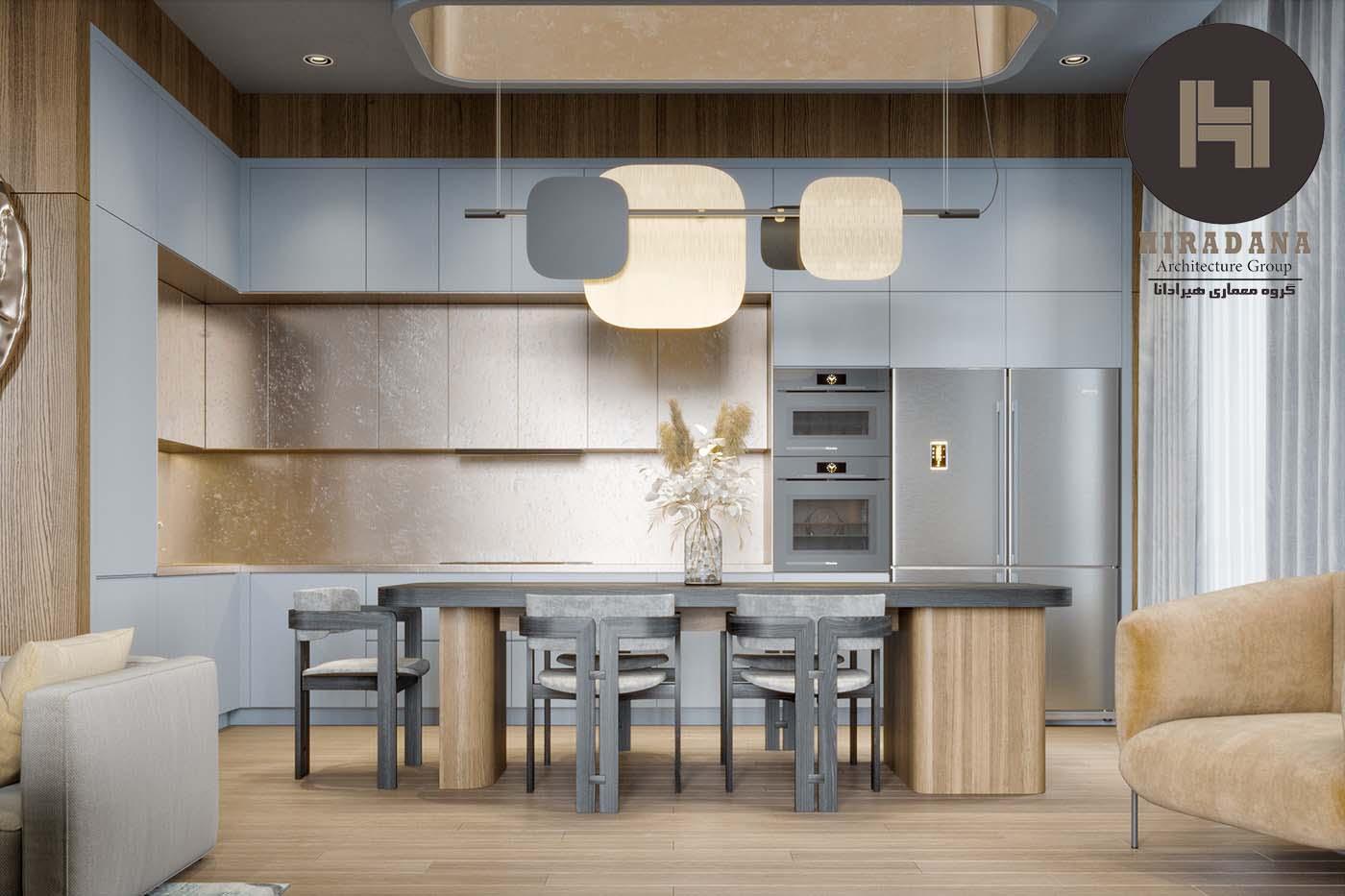 بازسازی لوکس آشپزخانه و پذیرایی