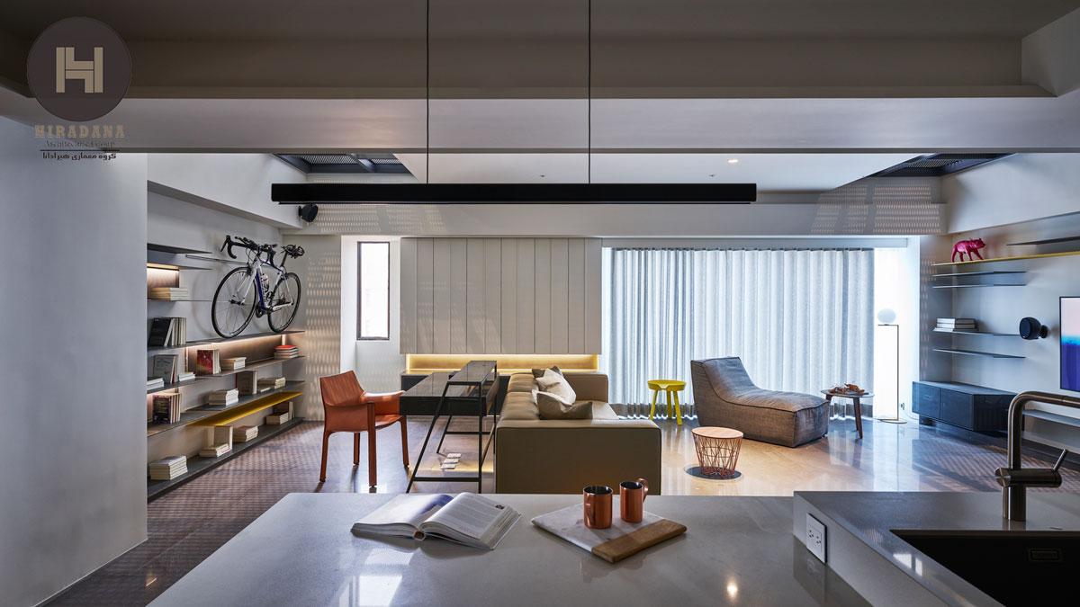 بازسازی منزل با طراحی مینیمال