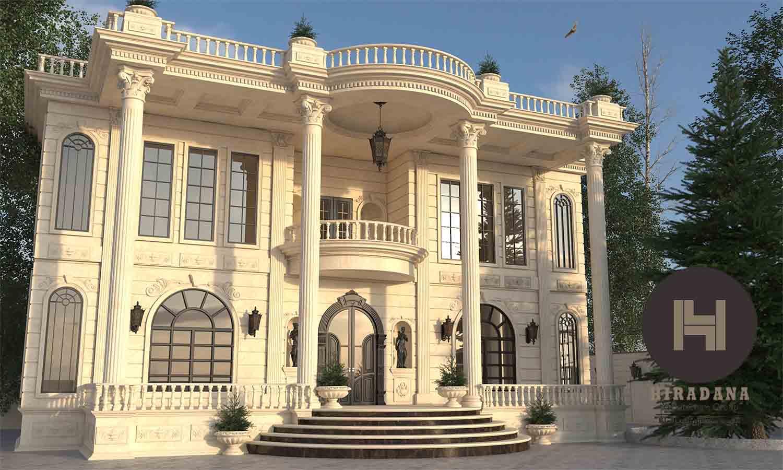 نکات طراحی ویلا به سبک کلاسیک
