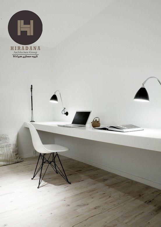طراحی اتاق کار به سبک مینیمالیستی