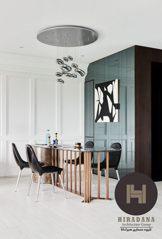 دکوراسیون داخلی با ترکیب طراحی کلاسیک و مدرن