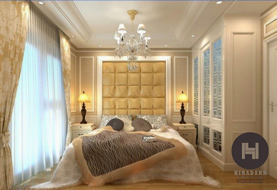 دکوراسیون داخلی منزل با رنگ سفید و طلایی