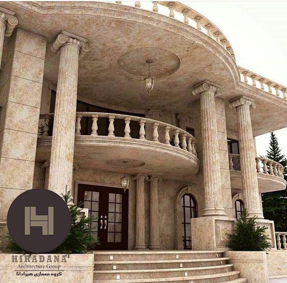 نمای رومی در طراحی نمای ساختمان به سبک کلاسیک