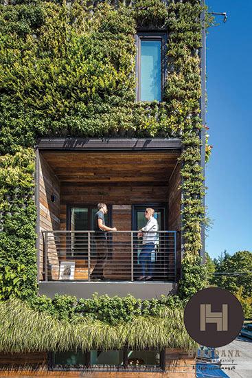 طراحی نمای ساختمان با دیوارسبز