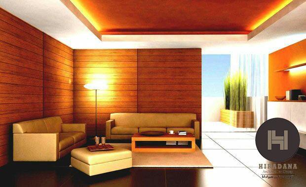 انتخاب رنگ سقف اتاق نشیمن در بازسازی ساختمان