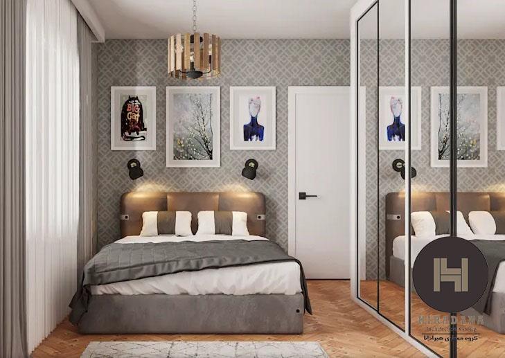 طراحی دکوراسیون اتاق خواب های مستطیلی شکل و باریک