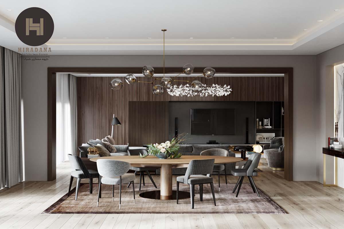 طراحی اتاق ناهار خوری لوکس و مدرن در ارومیه