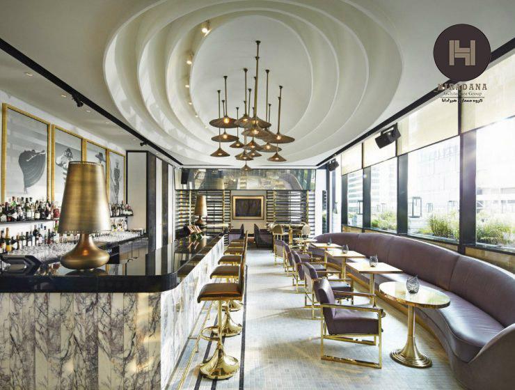 طراحی داخلی رستوران به سبک مدرن