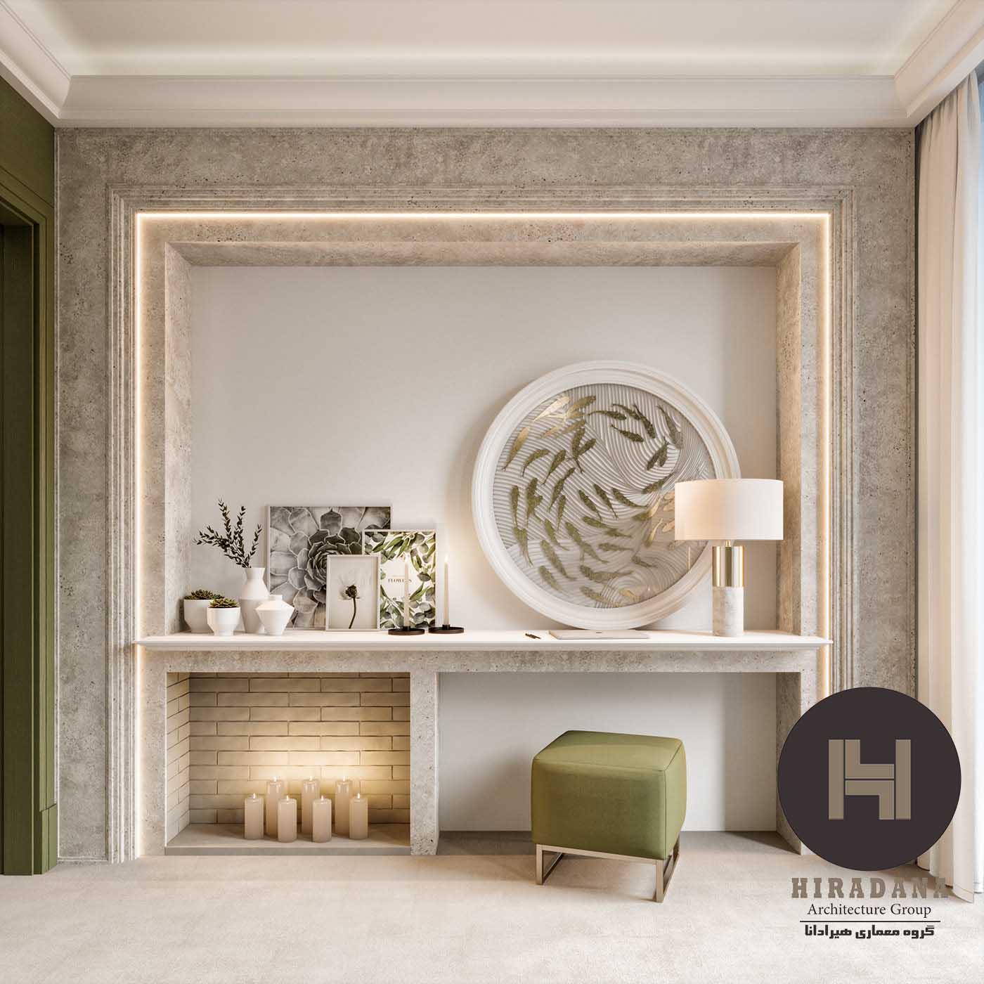طراحی دکوراسیون اتاق خواب مستر کلاسیک