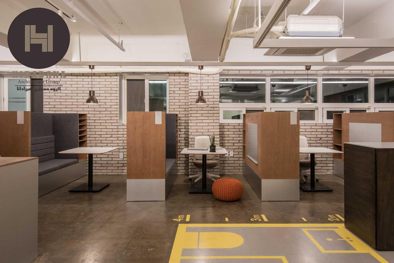 طراحی دکوراسیون اداری با آجر دکوراتیو