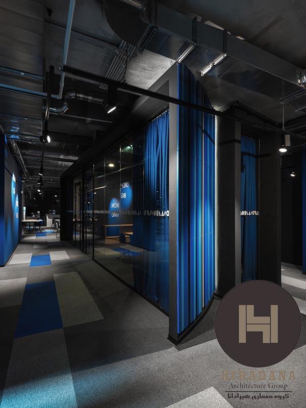 طراحی دکوراسیون اداری مدرن با استفاده از رنگ