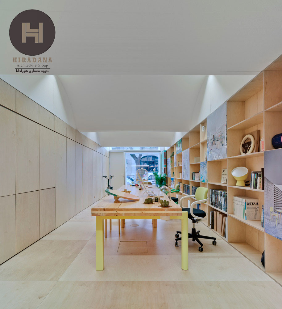 طراحی دکوراسیون اداری مدرن با چوب
