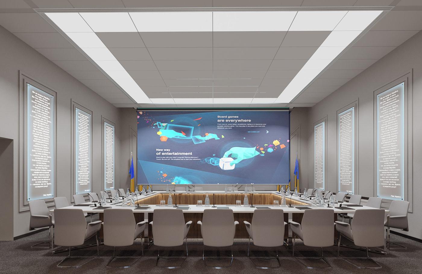 طراحی دکوراسیون اداری و سالن کنفرانس