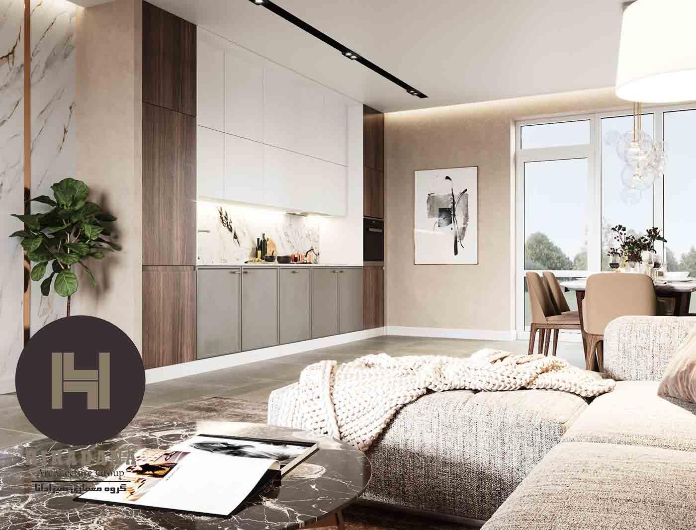 طراحی دکوراسیون داخلی آپارتمان های دوطبقه