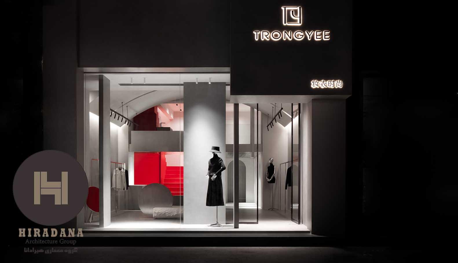طراحی دکوراسیون داخلی بوتیک با تم قرمز