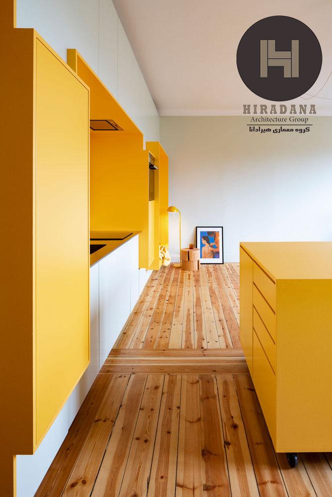 طراحی دکوراسیون منزل با رنگ زرد