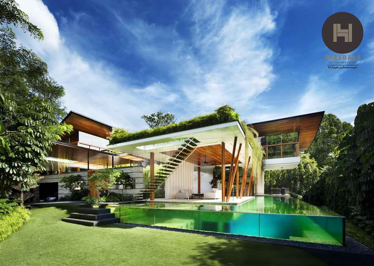 طراحی نمای ساختمان و ویلای مدرن با ایده های نو و لوکس