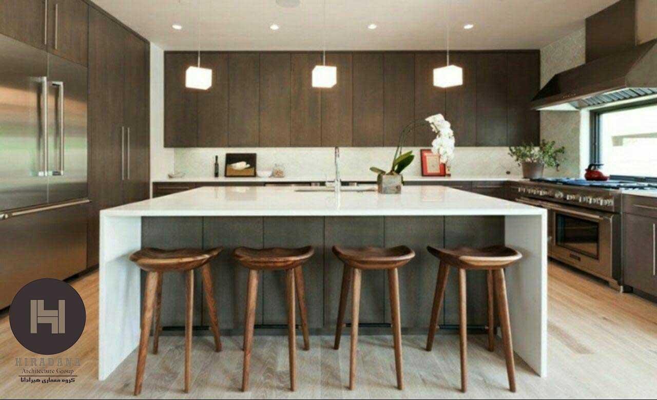 نکاتی درباره طراحی دکوراسیون آشپزخانه به رنگ قهوه ای