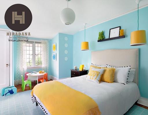 دکوراسیون داخلی اتاق کودک با رنگ سرد یا گرم