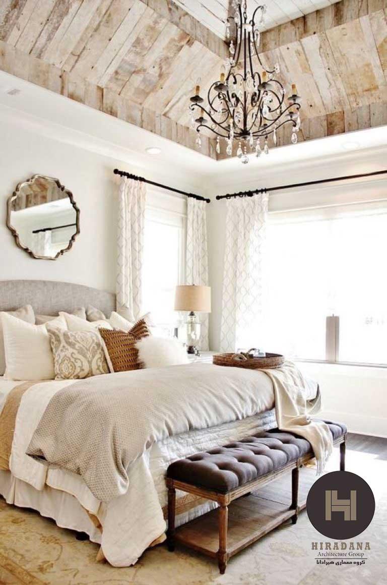طراحی دکوراسیون اتاق خواب به سبک کانتری