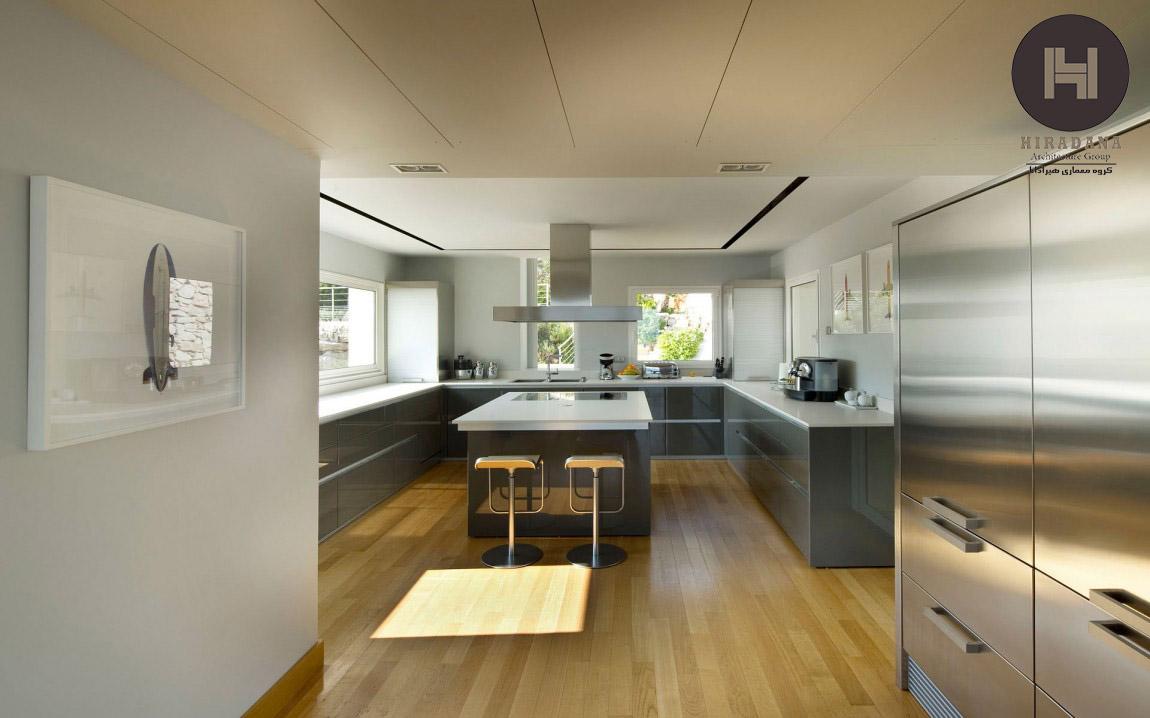 طراحی خانه ی ویلایی مدرن در مدیترانه
