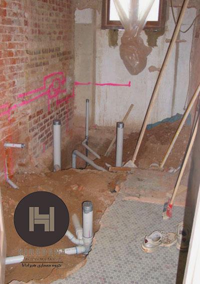 لوله کشی آب و فاضلاب ساختمان