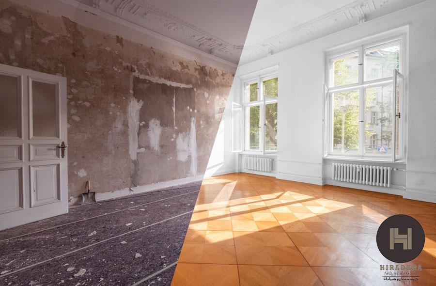 شیوه و مراحل بازسازی منزل