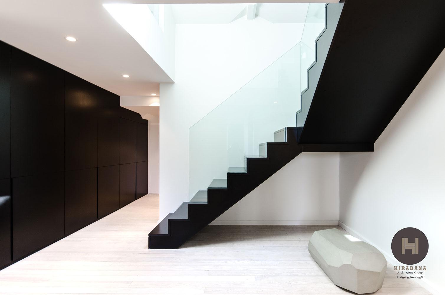 بازسازی ساختمان و منزل با رنگ سفید و سیاه