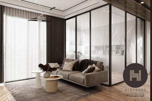 طراحی مدرن و لوکس آپارتمان با پلان باز