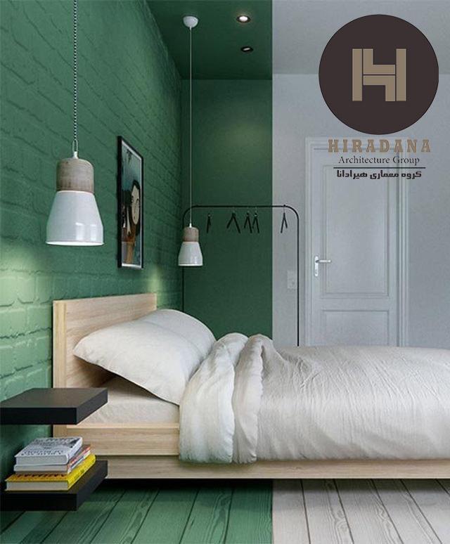 رنگ سبز در خانه