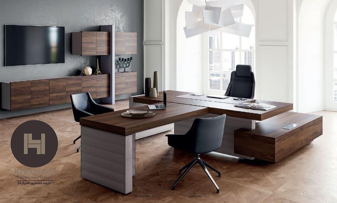 انواع میز مدیریت در دکوراسیون اداری