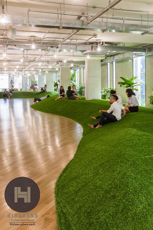 طراحی دکوراسیون اداری سبز