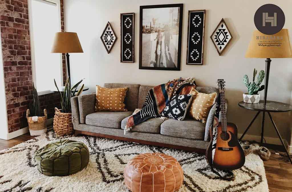 طراحی دکوراسیون داخلی سبک بوهمیان در منزل