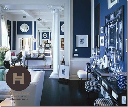 ترکیب رنگ های آبی در دکوراسیون داخلی