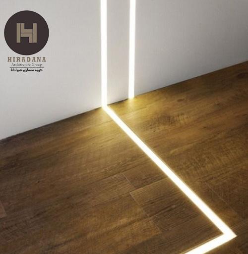 طراحی داخلی و نورپردازی کف