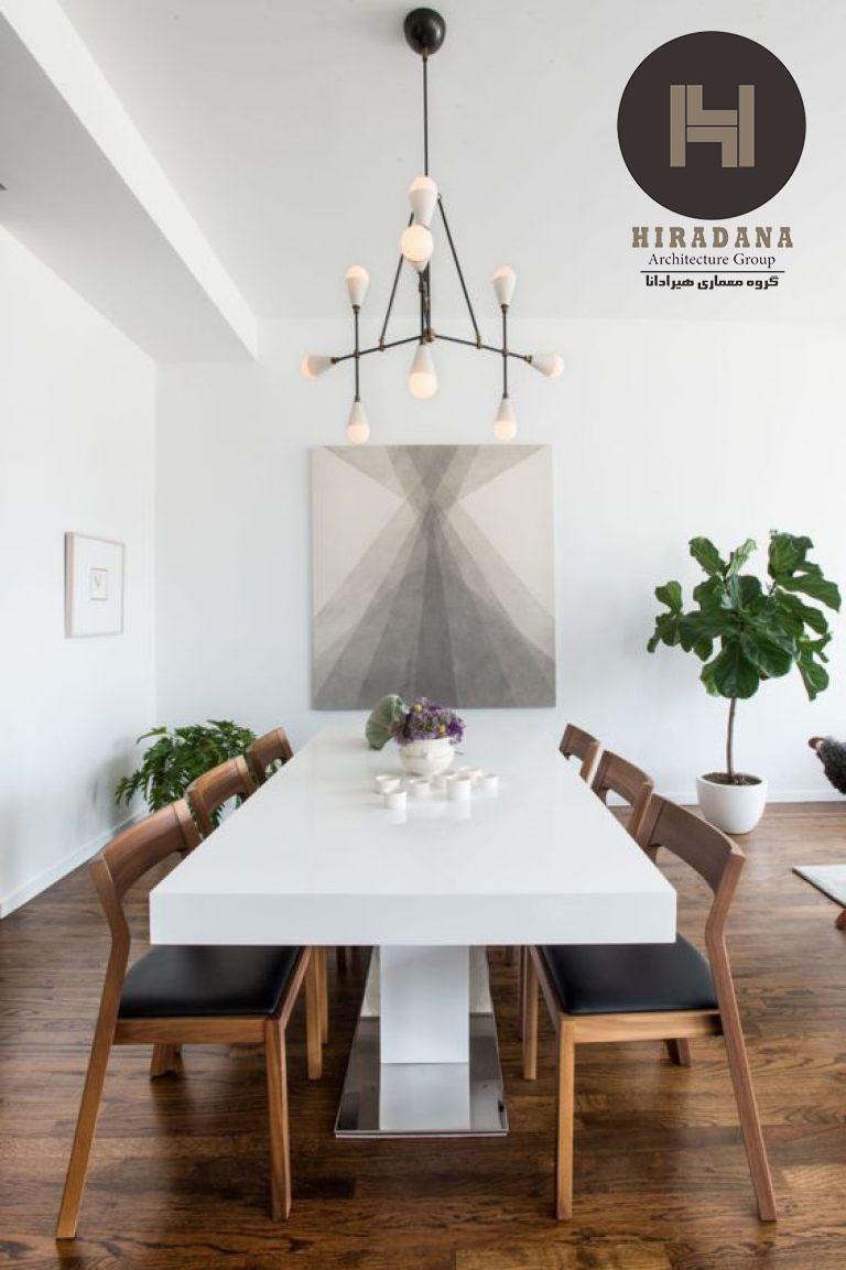 طراحی داخلی اتاق غذاخوری به سبک مینیمال