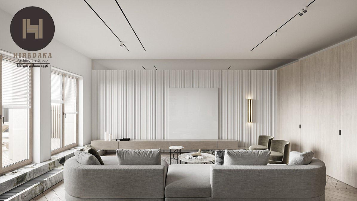 طراحی دکوراسیون داخلی لوکس و مدرن آپارتمان