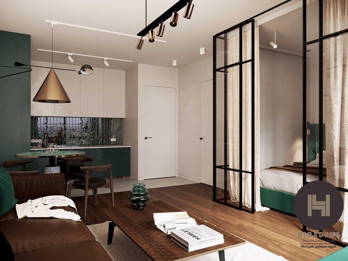 طراحی لوکس آپارتمان های کوچک