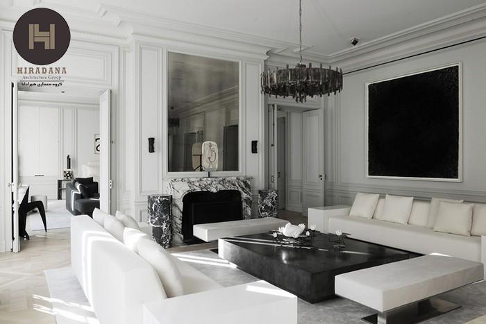 طراحی داخلی خانه با استفاده از رنگ سفید