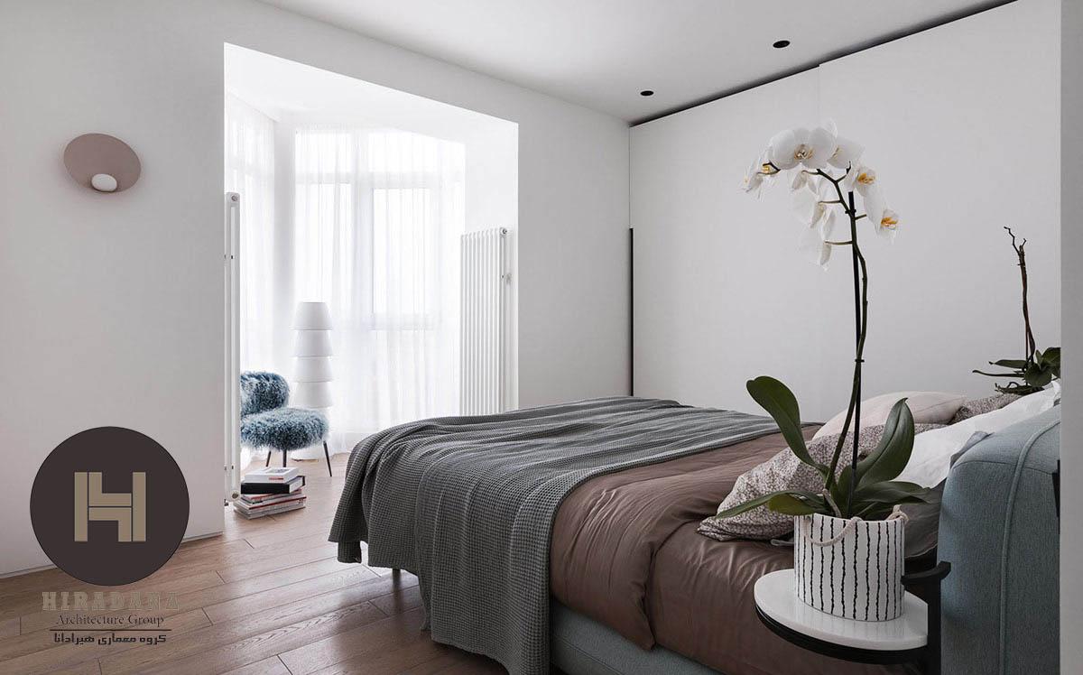 طراحی داخلی آپارتمان مینیمال و منحصر به فرد