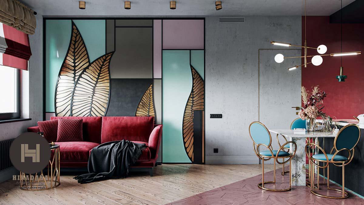 طراحی دکوراسیون داخلی لوکس به سبک آرت دکو