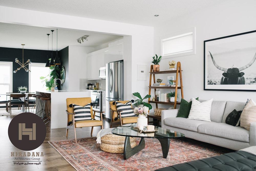 طراحی اتاق نشیمن به سبک مدرن