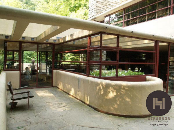 طراحی معماری خانه آبشار