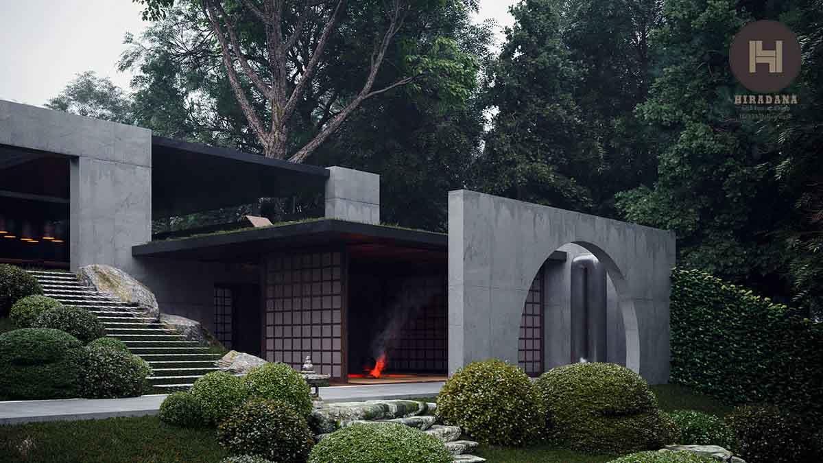 طراحی باغ ویلا ژاپنی