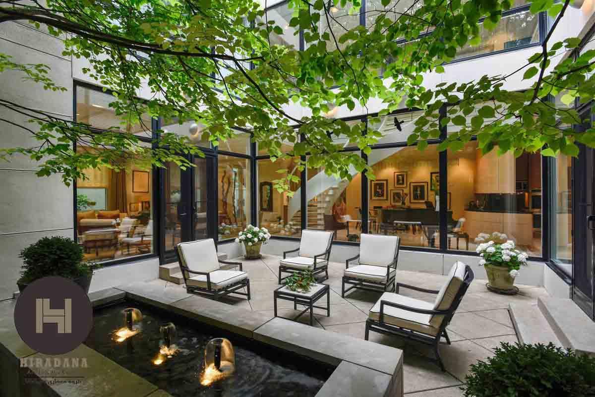 طراحی حیاط خانه به سبک مدرن